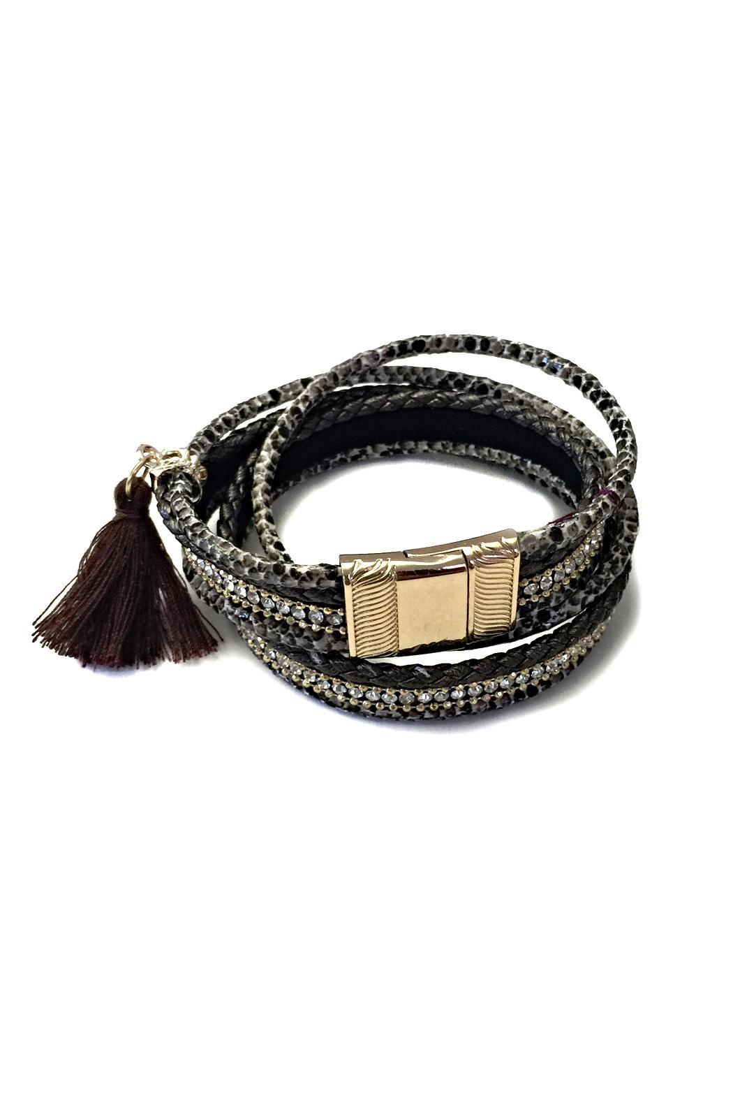 Beijing Collection Brown Snakeskin Bracelet Front Cropped Image