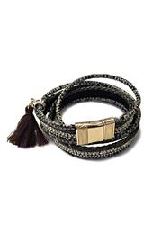 Beijing Collection Brown Snakeskin Bracelet - Front cropped