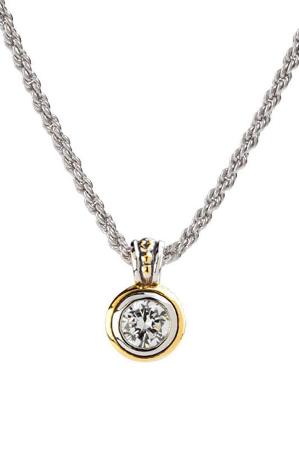 JOHN MEDEIROS Beijos 8mm-Cz-Bezel Set-Pendant-Necklace - Main Image