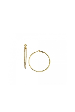 BeJe Small Pave Hoops - Alternate List Image