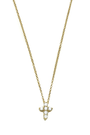 BeJe Tiny Gold Cross Necklace - Product Mini Image