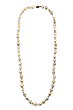 Shoptiques Product: Pearl And Pyrite Necklace