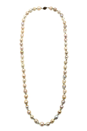 Bejeweled Pearl And Pyrite Necklace - Product Mini Image