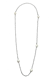 Bejeweled Crystal Pearl Necklace - Product Mini Image