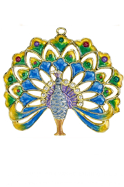 Kubla Crafts Bejeweled Enamel Ornament - Front cropped