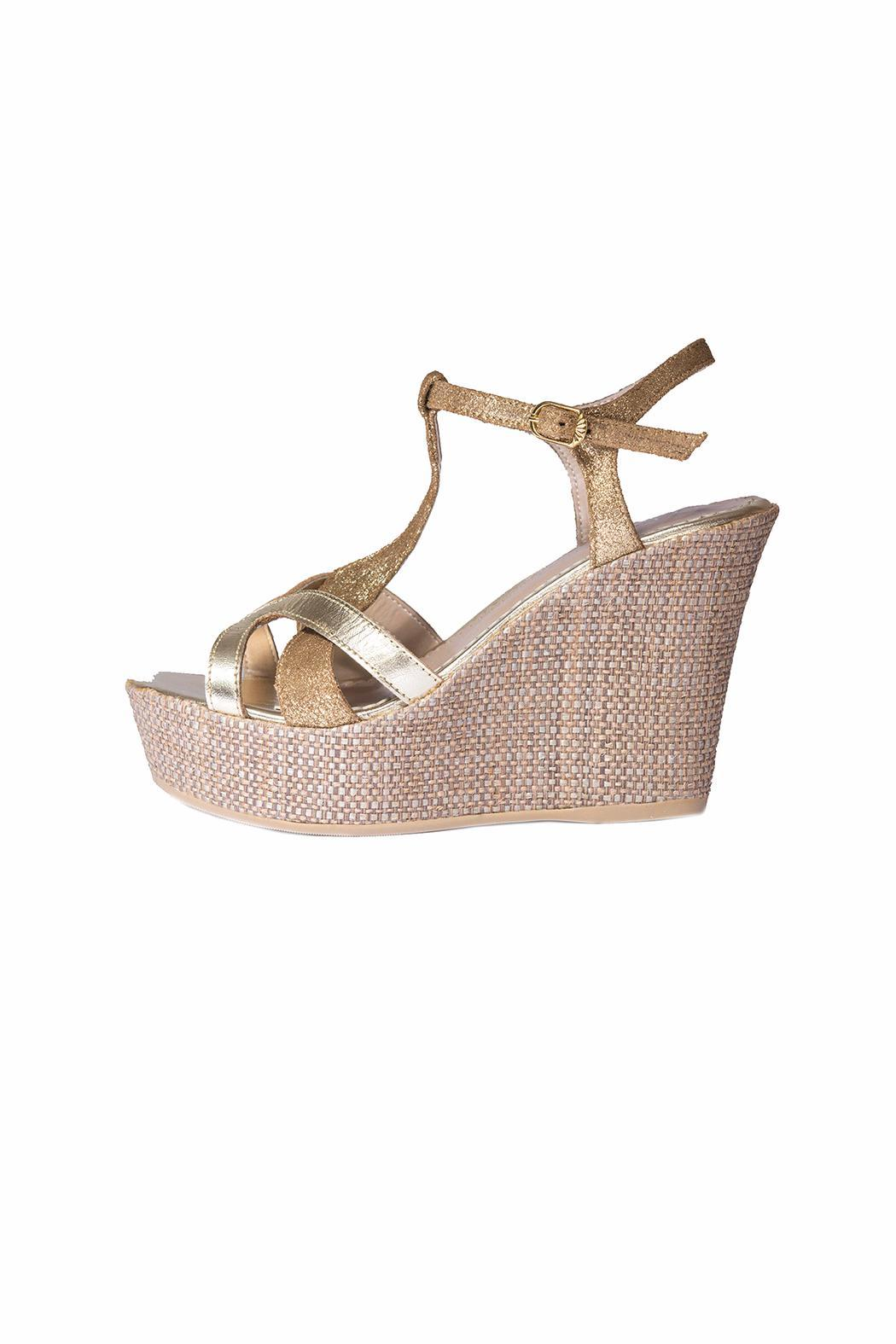 Bel Carril Metallic Megan Wedge - Main Image