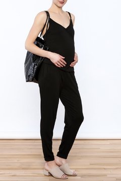 Shoptiques Product: Black Sleeveless Jumpsuit