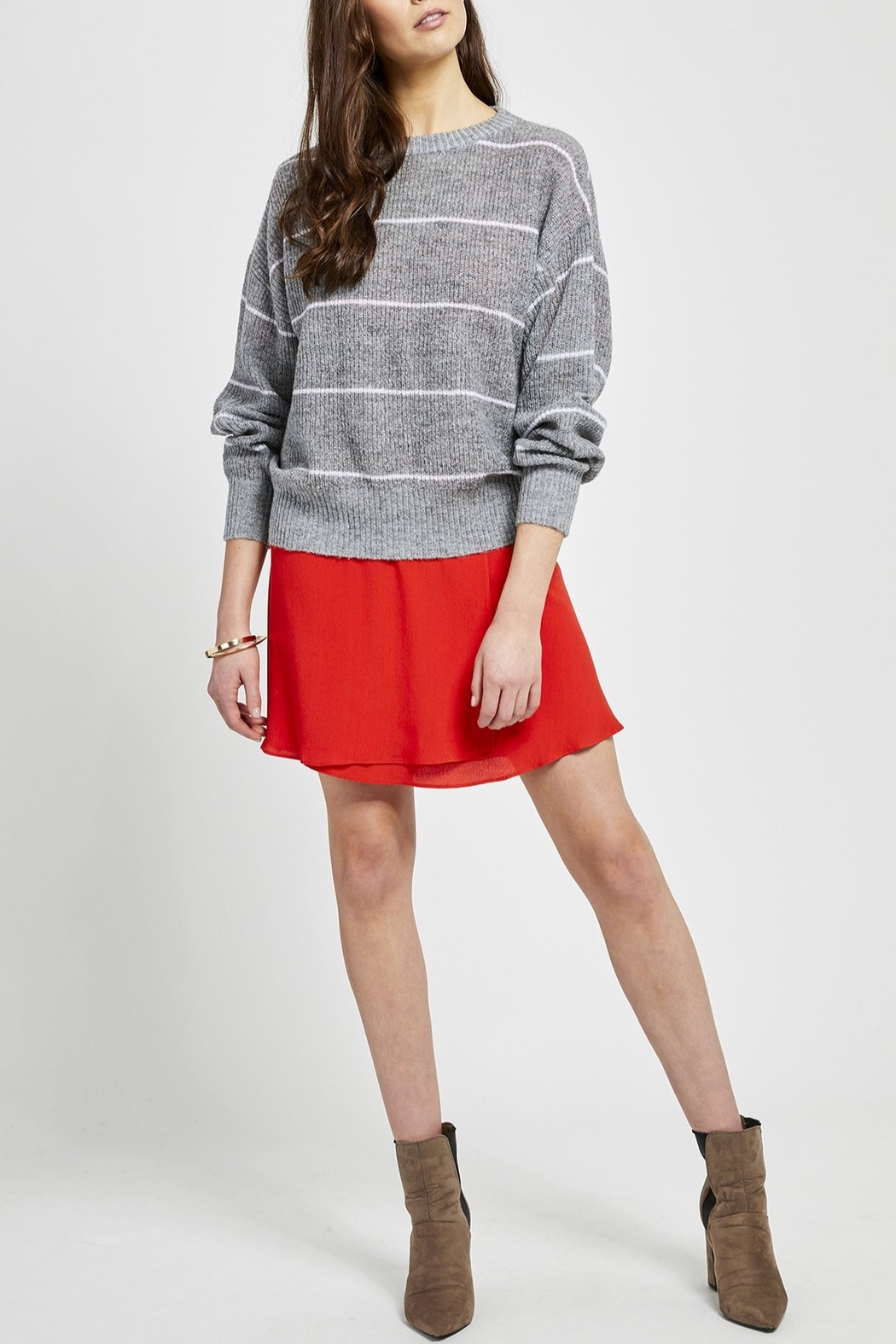 Gentle Fawn Belford Stripe Sweater - Front Cropped Image