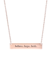 Riah Fashion Believe,-Hope,-Faith-Bar-Necklace - Product Mini Image
