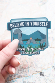 Sentinel Supply Believe in Yourself Nessie Sticker - Product Mini Image