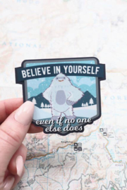 Sentinel Supply Believe in Yourself Yeti Sticker - Product Mini Image
