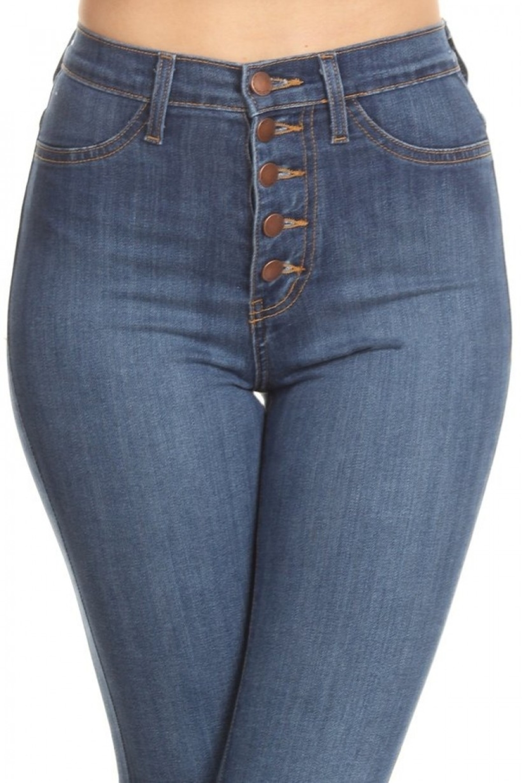 Vibrant MIU Bell Bottom Jeans - Back Cropped Image