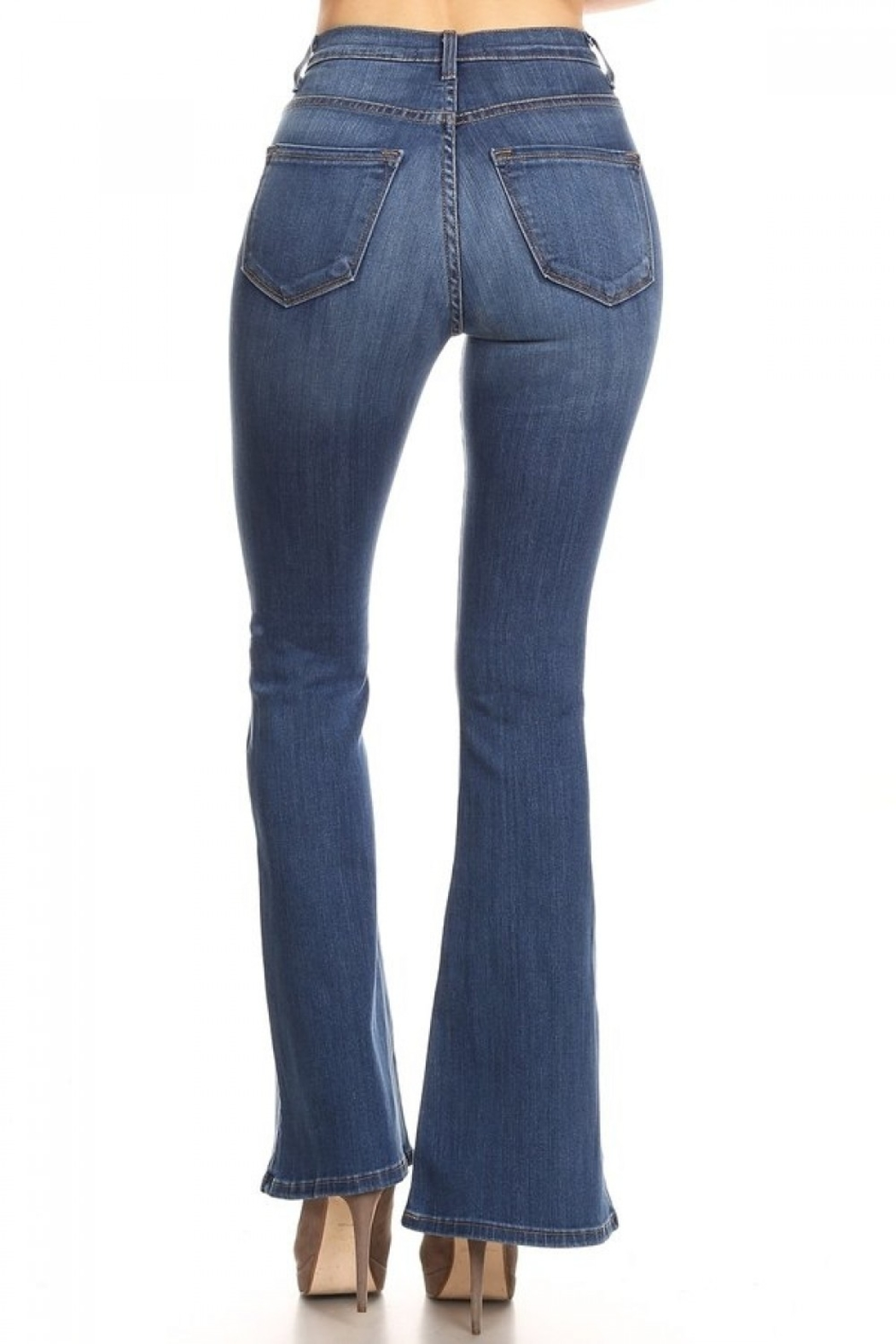 Vibrant MIU Bell Bottom Jeans - Side Cropped Image