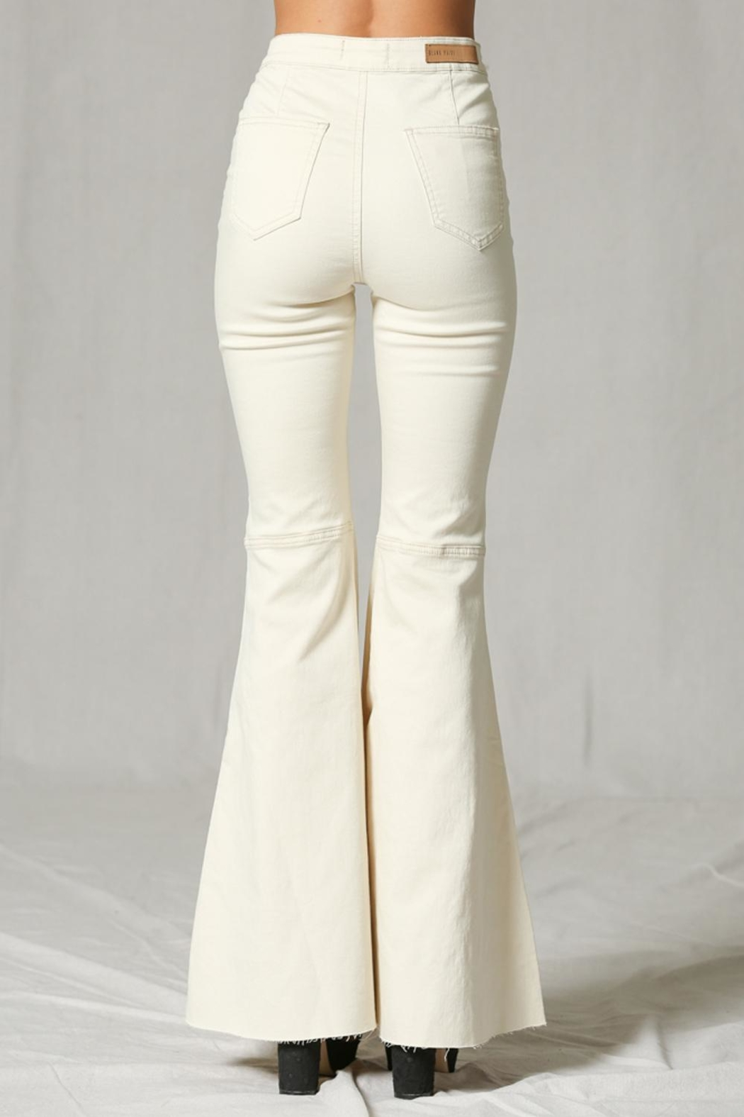 Blank Paige Bell Bottom Jeans - Side Cropped Image