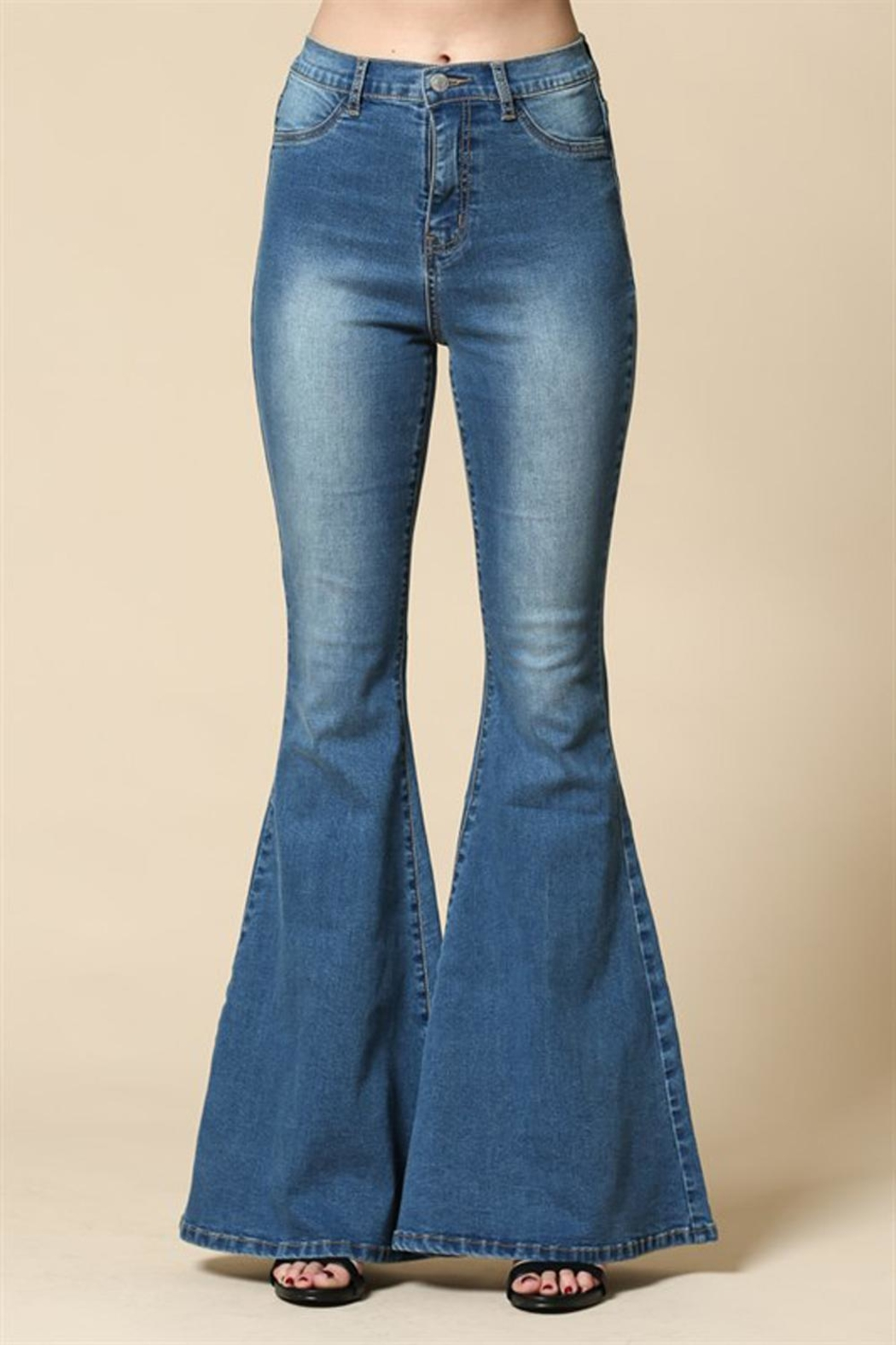 Blank Paige Bell Bottom Jeans - Main Image