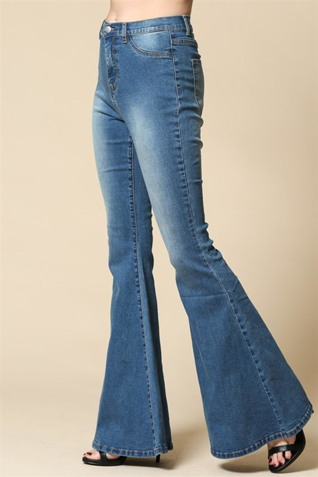 Blank Paige Bell Bottom Jeans - Front Full Image