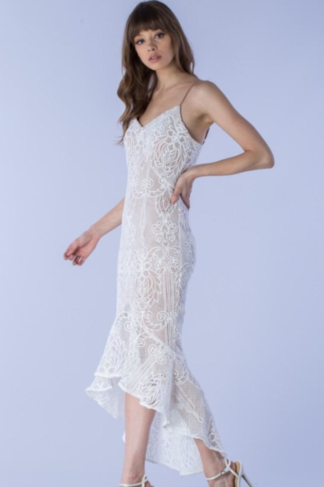 Do & Be Bell-Bottom Lace Dress - Front Full Image