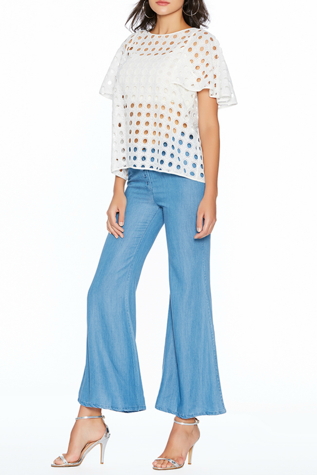 Avantlook Bell-Bottom Tencel Pants - Front Cropped Image