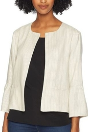 Cupcakes and Cashmere Bell Crop Sleeve Linen Open Jacket - Product Mini Image