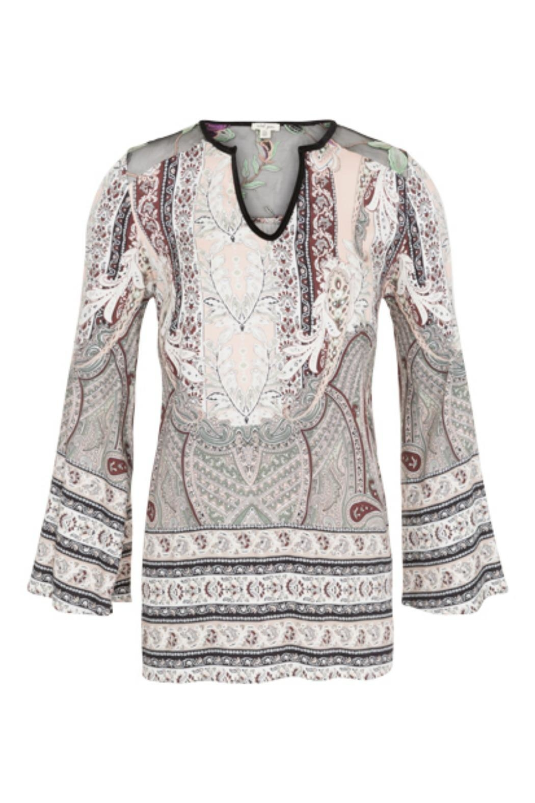 Tribal Bell Sleeve Blouse - Main Image