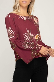 She + Sky Bell Sleeve Blouse - Product Mini Image