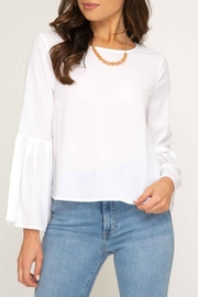 She + Sky Bell Sleeve Blouse - Front cropped