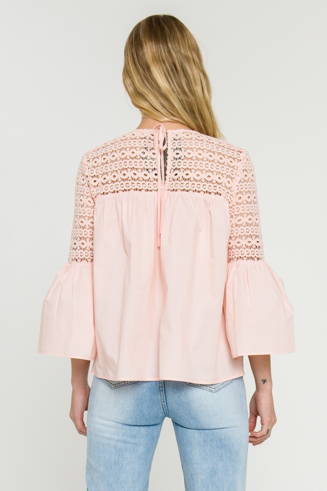 La Ven Bell Sleeve Blouse - Back Cropped Image