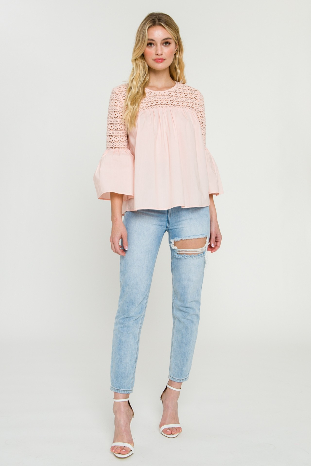 La Ven Bell Sleeve Blouse - Front Full Image