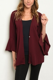Lyn -Maree's Bell Sleeve Cardi - Front cropped