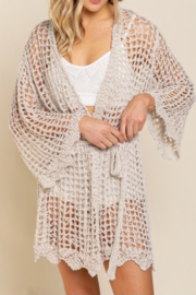 POL  Bell sleeve cardigan - Back cropped