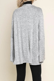 Umgee Bell-Sleeve Cardigan, Gray - Back cropped