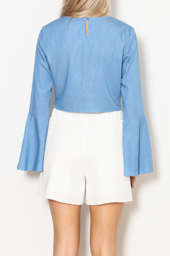 Lucy Paris Bell Sleeve Chambray Top - Alternate List Image
