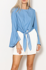 Lucy Paris Bell Sleeve Chambray Top - Product Mini Image