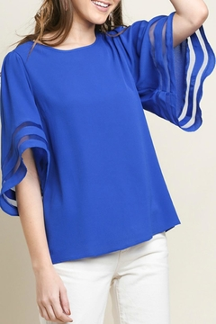 Umgee USA Bell-Sleeve Cobalt Top - Product List Image