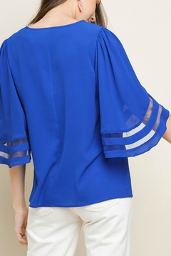 Umgee USA Bell-Sleeve Cobalt Top - Alternate List Image