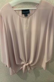 Frank Lynam Bell sleeve crew neck  blouse - Front cropped