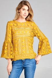 Ellison Bell-Sleeve Crochet Top - Product Mini Image