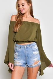 blue blush Bell Sleeve Crop - Product Mini Image