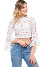 Salt Bell-Sleeve Crop Top - Product Mini Image