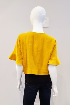 Tricotto Bell Sleeve Cropped Top - Alternate List Image