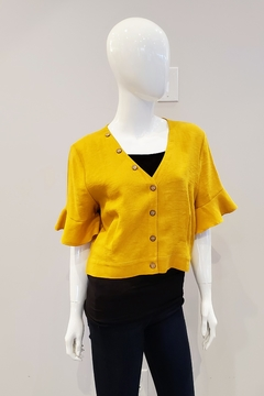 Tricotto Bell Sleeve Cropped Top - Product List Image