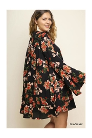 Umgee USA Bell Sleeve Dress - Front full body