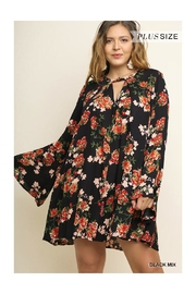 Umgee USA Bell Sleeve Dress - Front cropped