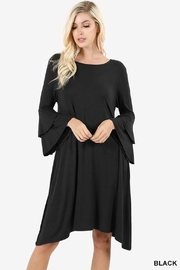 Zenana Outfitters Bell Sleeve Dress - Product Mini Image