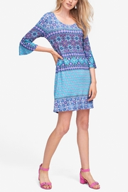 Tribal Bell Sleeve Dress - Front cropped