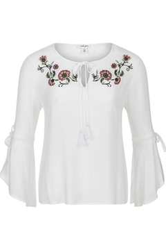 Shoptiques Product: Bell-Sleeve Embroidered Blouse
