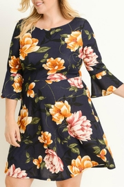 Gilli Bell-Sleeve Floral Dress - Product Mini Image