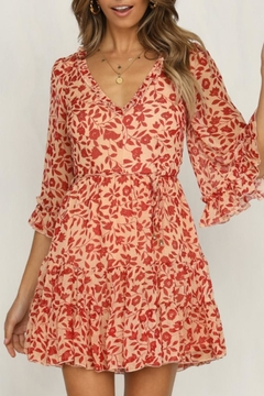 Chikas Bell-Sleeve Floral Dress - Product List Image