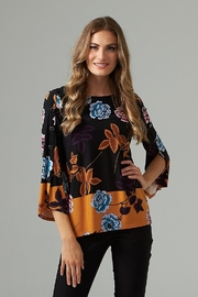 Joseph Ribkoff Bell sleeve floral print top - Product Mini Image
