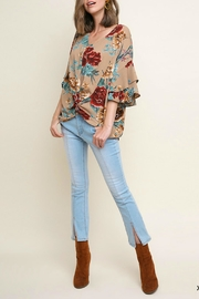 Umgee USA Bell-Sleeve Floral Top - Product Mini Image